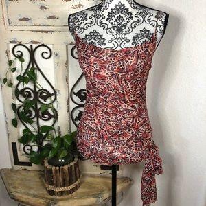 Diane Von Furstenberg silk boho print camisole